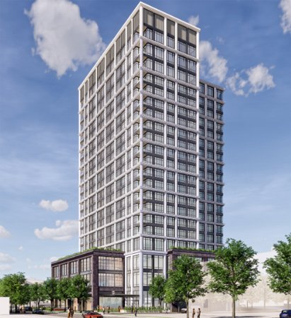 Rendering of proposed Dorchester Avenue building