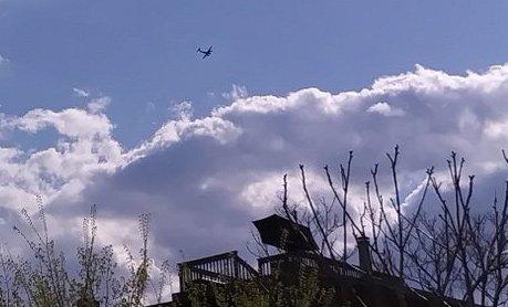 Circling plane