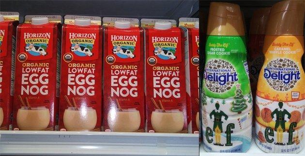 Egg nog and elf creamer