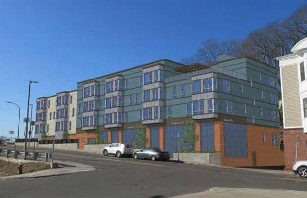 Rendering of new Fairmount Avenue apartment building