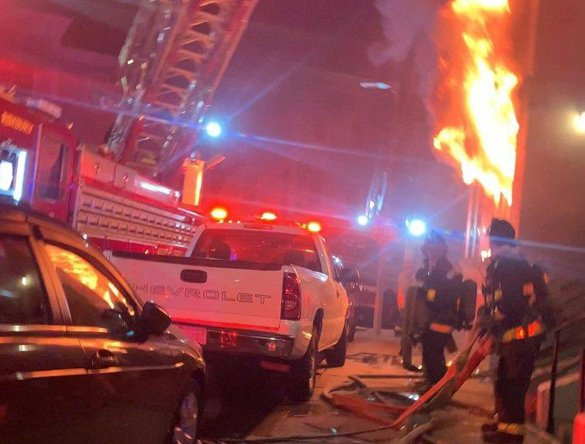 Fire on Forest Street in Roxbury