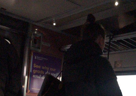 Darkened, not moving Franklin Line train