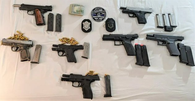 A lot of guns and bullets