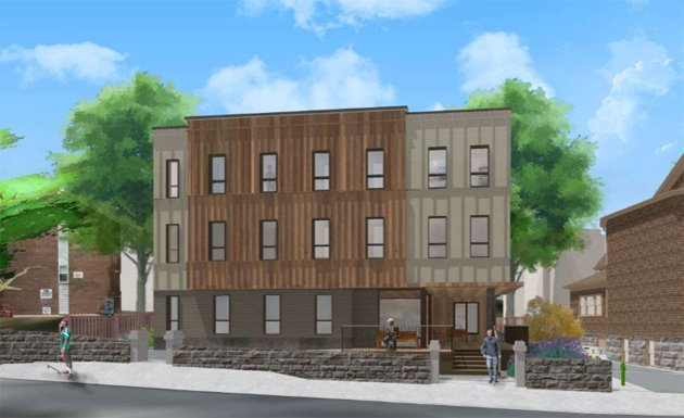 Architect's rendering of Hawthorne Street condos