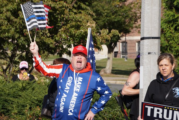 Yelling Trump supporter