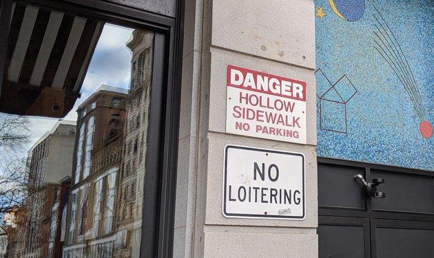 Caution: Hollow sidewalks