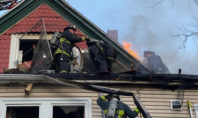 Firefighters at Humboldt Avenue fire