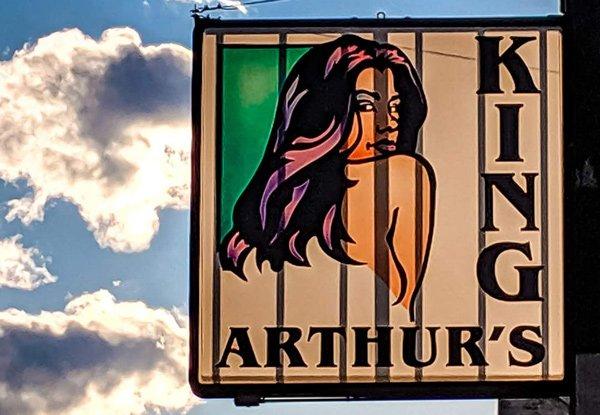 King Arthur sign