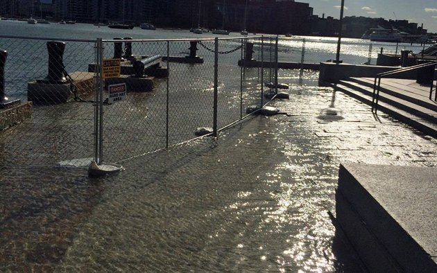 King Tide at Long Wharf