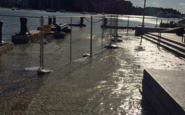 King Tide at Long Wharf