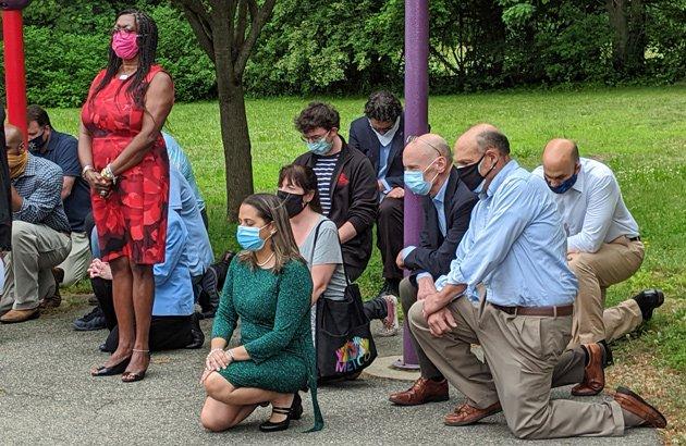 Kneeling in Hyde Park