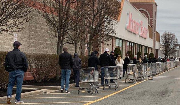 Line at Market Basket