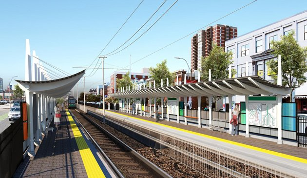 Rendering of new Green Line station