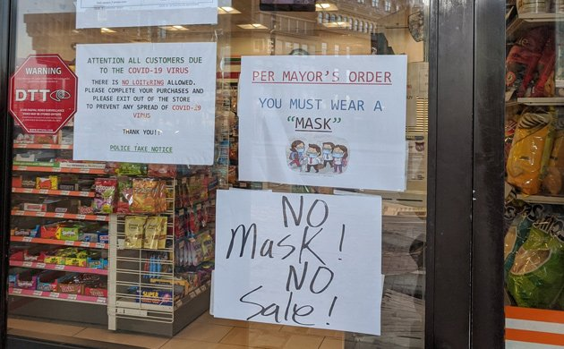 No mask, no service at Government Center 7-Eleven