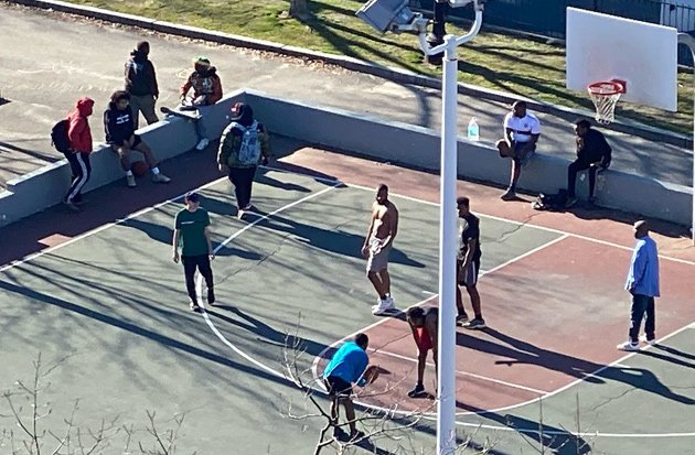 Basketball at Peters Park in the South End
