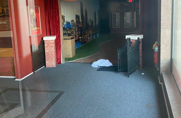 Empty wax museum