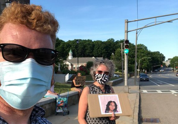 O'Malley at vigil