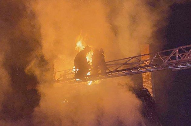 Firefighters on Oriole Street in West Roxbury
