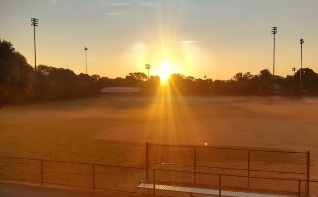 Sunrise over Healy Field in Roslindale