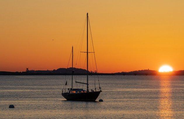 Sunrise over Boston Harbor