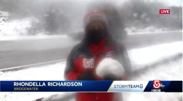 Richardson with a snowball