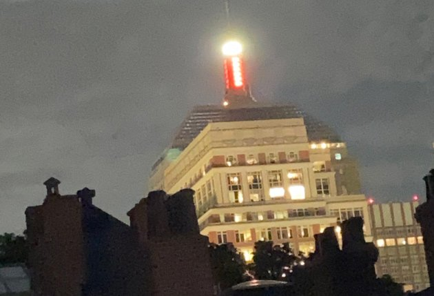 Old Hancock beacon is steady red