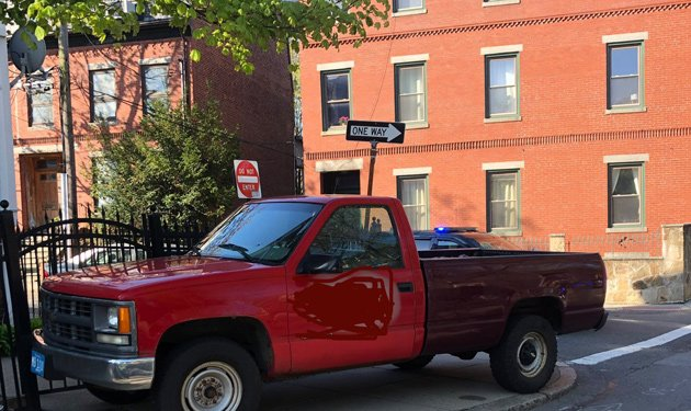 The stolen pickup