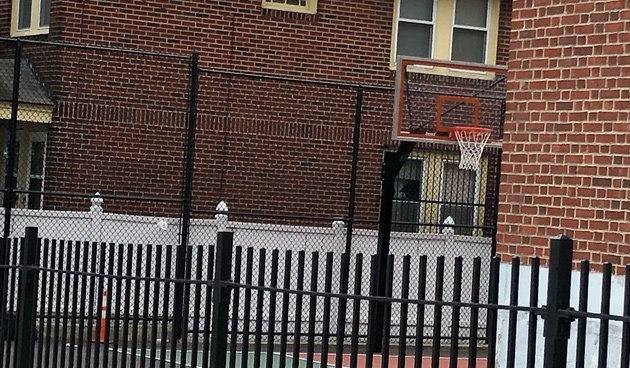 Sumner School basketball hoop