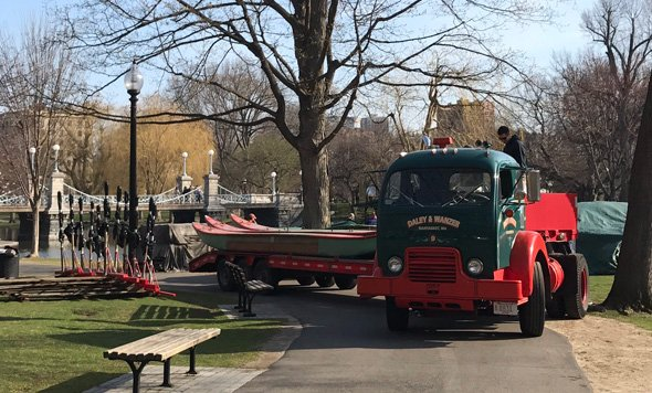 Swan Boats return to the Public Garden