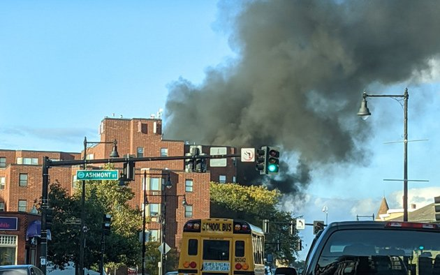 Fire at 1875 Dorchester Ave.
