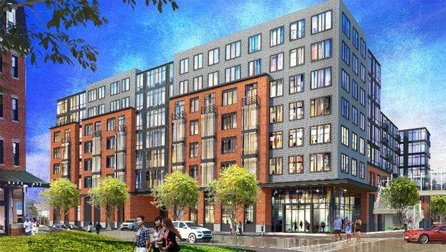 Rendering of proposed Charlestown residential building