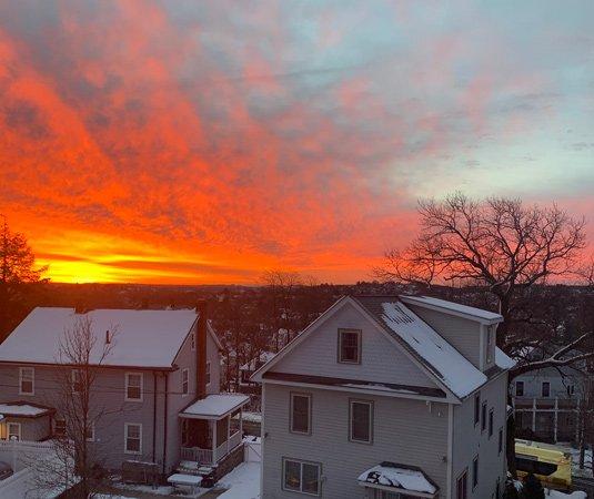 Sunrise over Roslindale