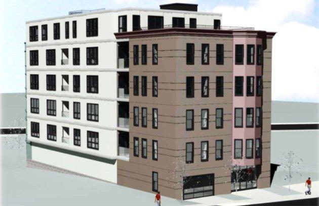 Rendering of proposed 44 Ellery St. in South Boston