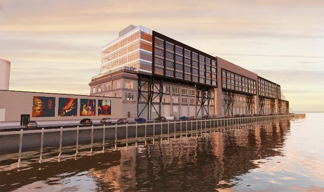 Proposed taller Black Falcon Pier building