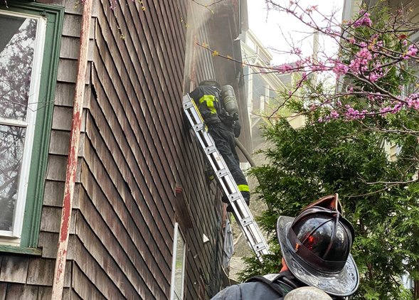 Firefighters at Boylston Street fire