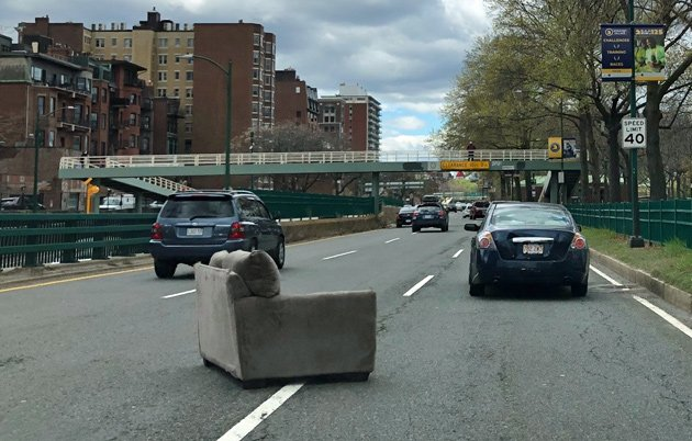Couch on Storrow Drive