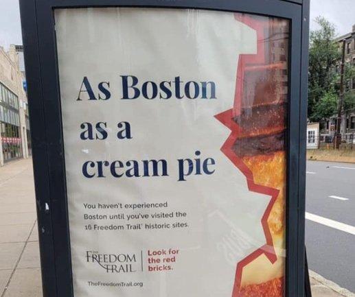 As Boston as a cream pie