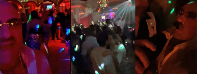 Silvestri partying in Naples, FL on New Year's Eve