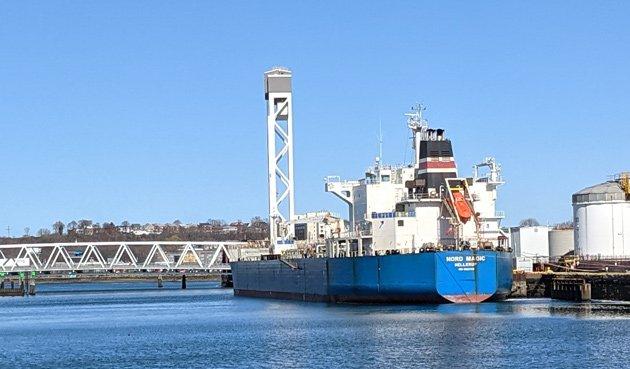 Danish ship docked in Chelsea Creek