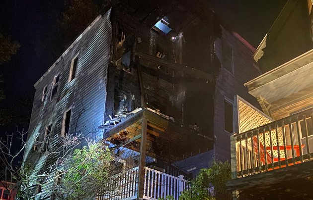 Fire damage on Castlerock Street
