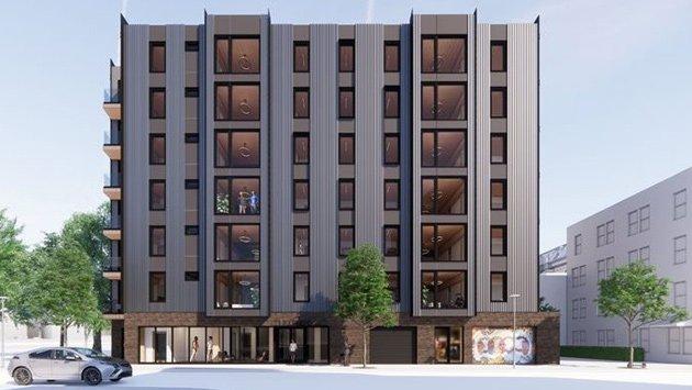 Artist's rendering of East Lenox Street apartments
