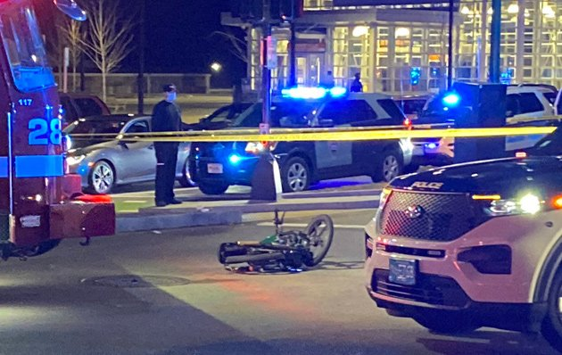 Forest Hills crash scene showing motorbike