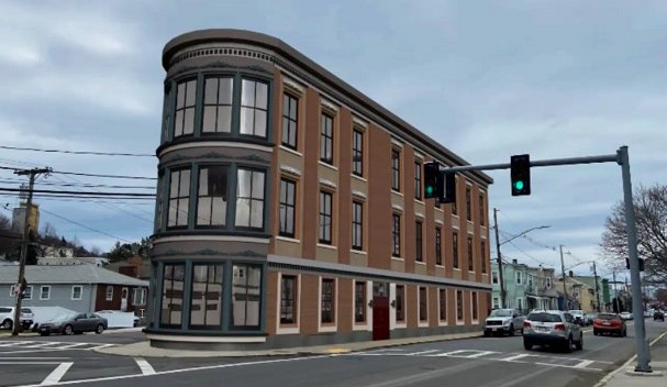 Rendering of proposed building at Boardman and Ashley streets