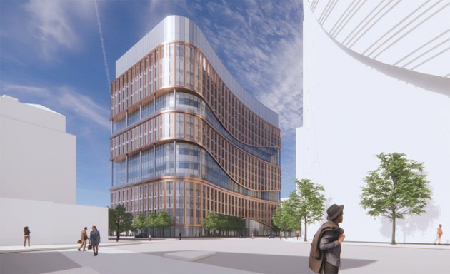 Rendering of proposed new life-sciences lab space in Government Center