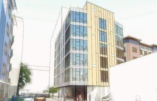 Rendering of proposed Hichborn Street building