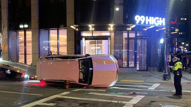 Crash outside 99 High St. downtown