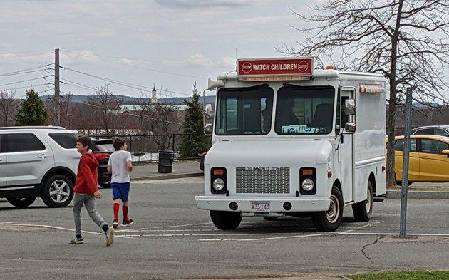 Ice-cream truck at Millennium Park