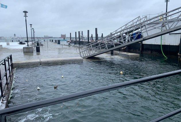 Flooding on Long Wharf