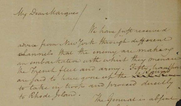 Hamilton's warning to Lafayette