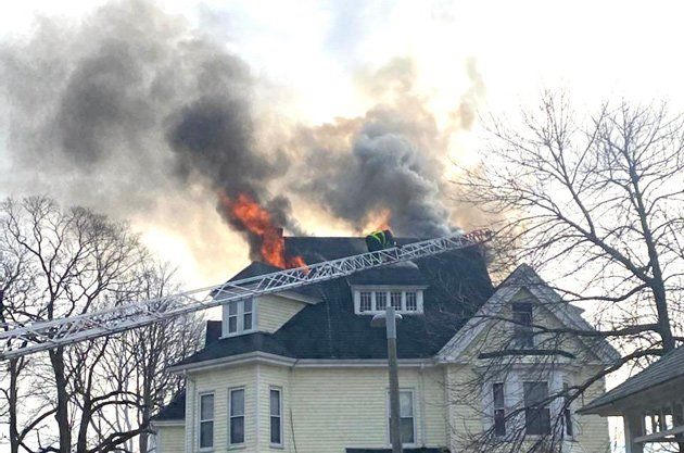 Fire at 44 Maxwell St. in Dorchester